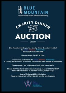 Charity Dinner & Auction, Saturday 30th March 2019